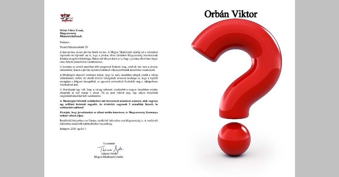 Mikor jön Orbán Viktor válasza?