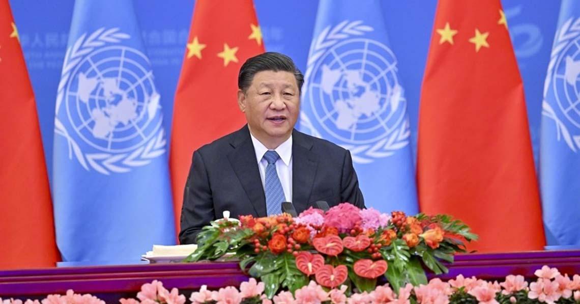 Hszi Csin-ping beszédet mondott a Kínai Népköztársaság ENSZ-hez történő visszatérésének 50. évfordulója alkalmából tartott emlékkonferencián