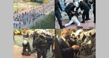 Athén: brutális rendőrterror a békés tüntetők ellen